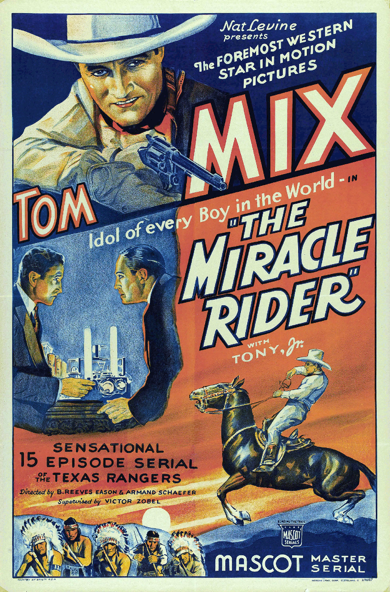 1935 The Miracle Rider Tom Mix classic western movie poster print 3