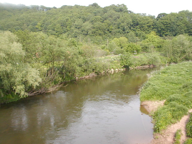 The river at Knightwick. - geograph.org.uk - 709118
