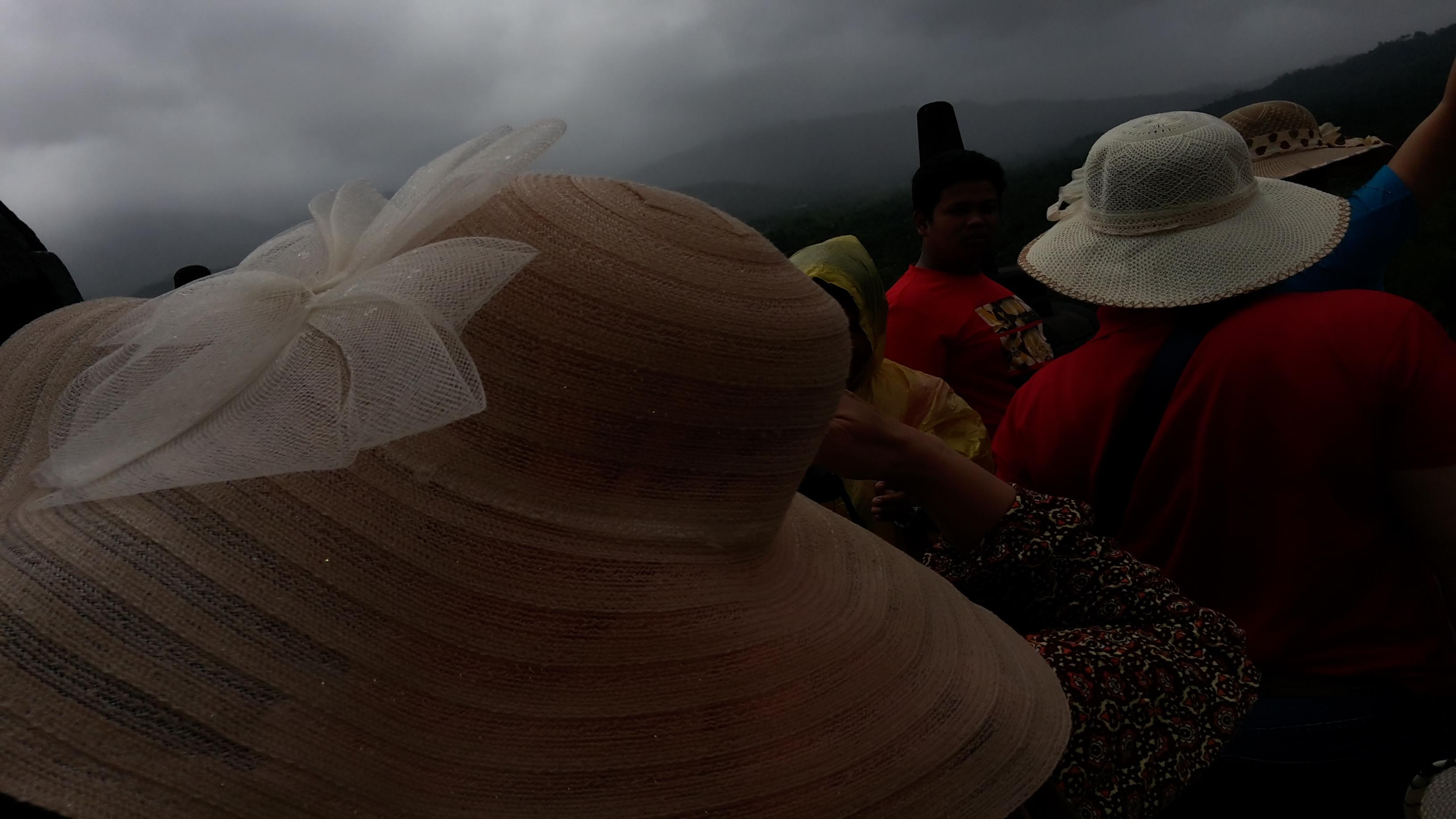 File:Tourist Using Hat, Borobudur Temple, Central Java, Indonesia