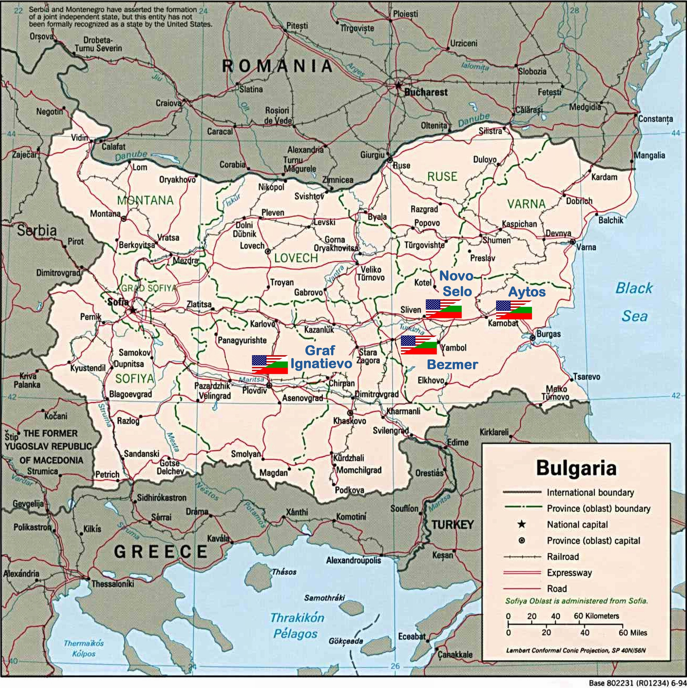BulgarianAmerican Joint Military Facilities Wikiwand - Romania in us map