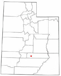Location of Torrey, Utah