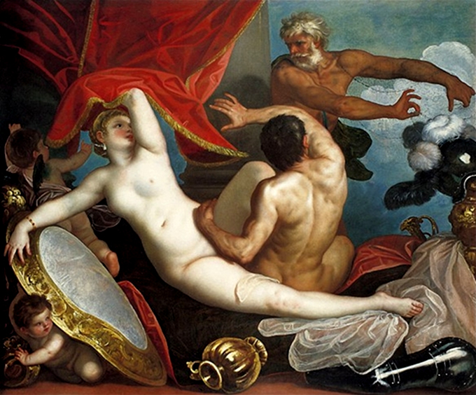 Venus and Mars Surprised by Vulcan - Il padovanino (1631)