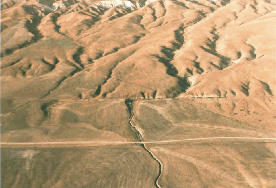 ... Creek offset across the San Andreas Fault.png - Wikimedia Commons