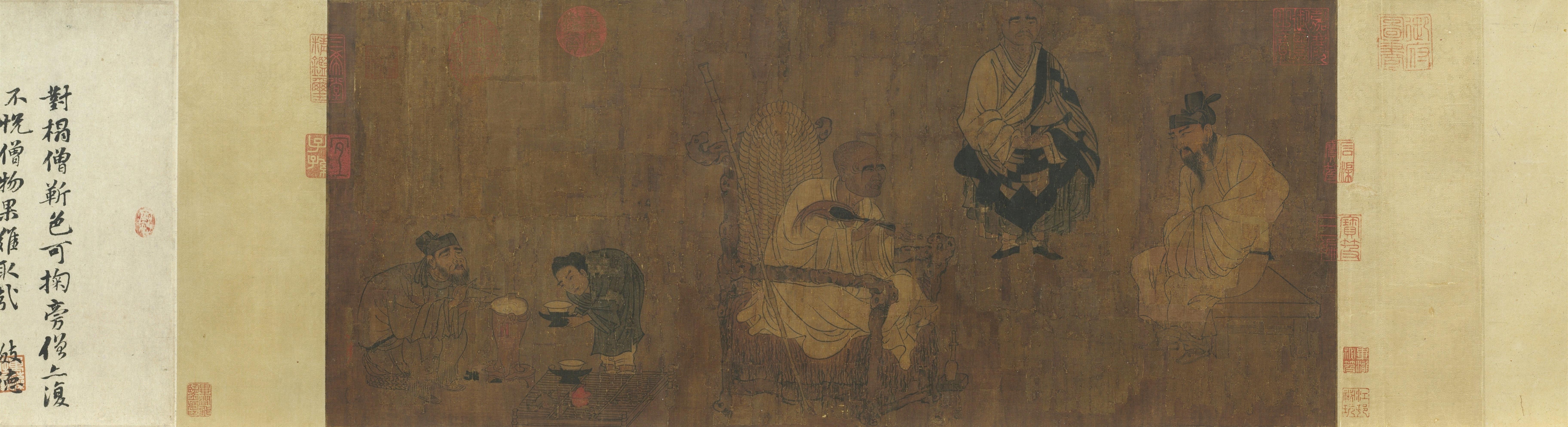 Xiao Yi Trying to Swipe the Lanting Scroll
