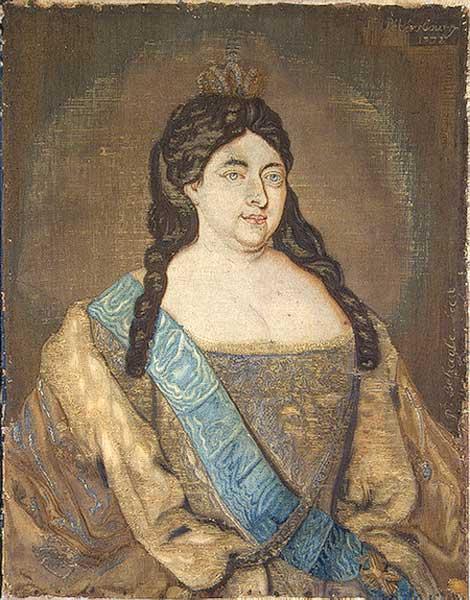 Портрет Анны Иоанновны на шёлке. 1732г.