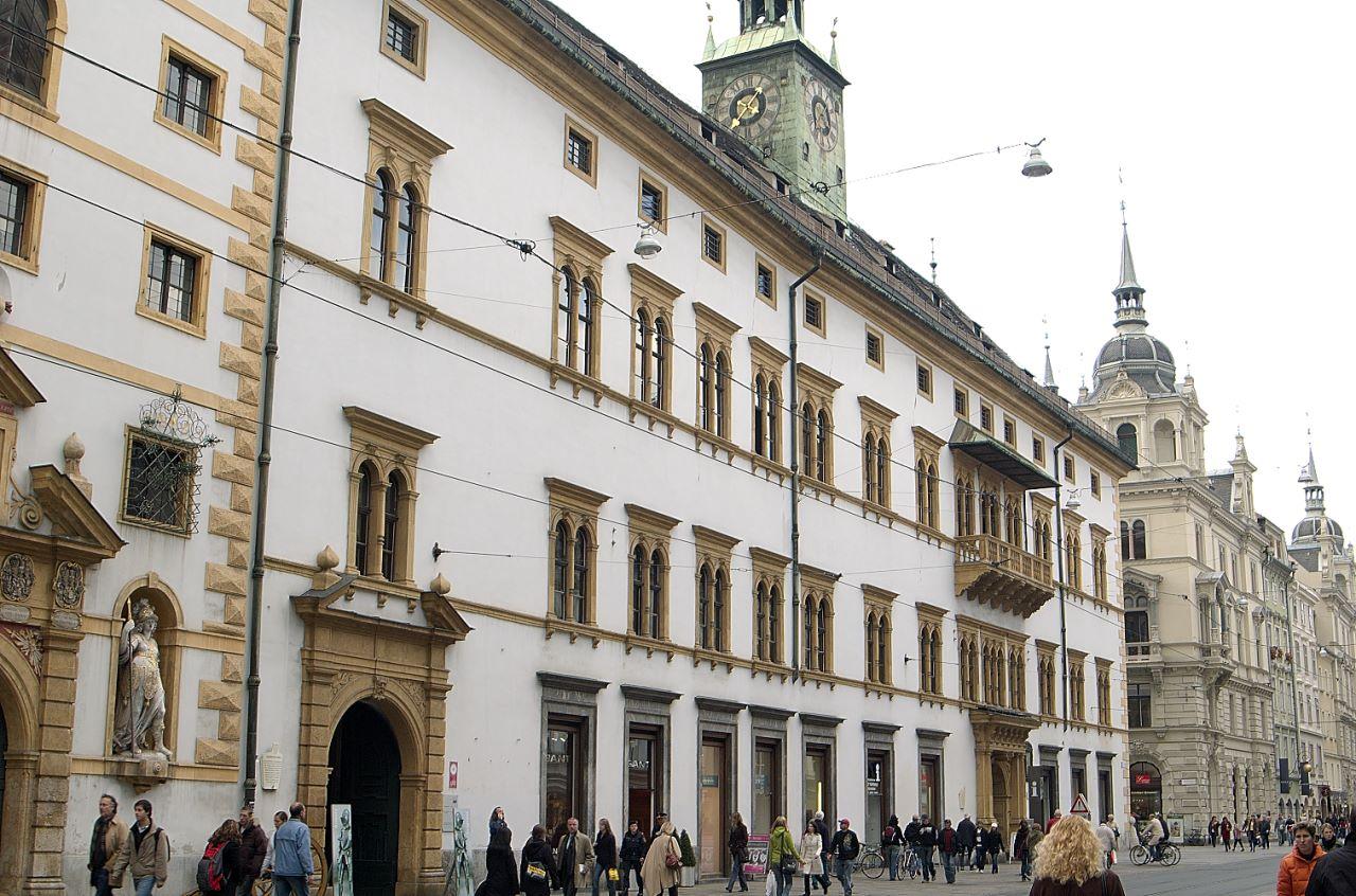 Fassade des Landhauses und Landeszeughauses