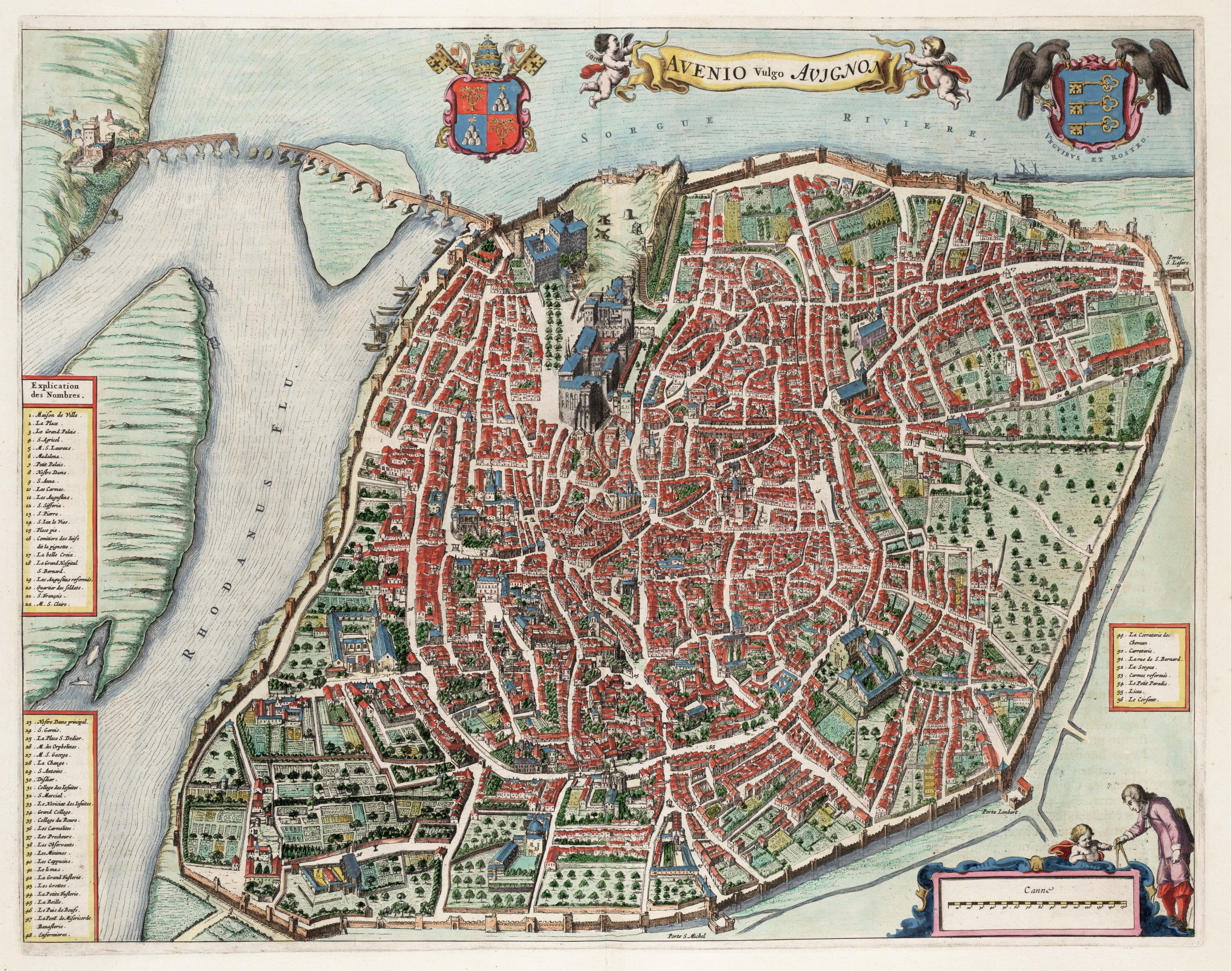 Avenio vulgo Avignon (Atlas van Loon)