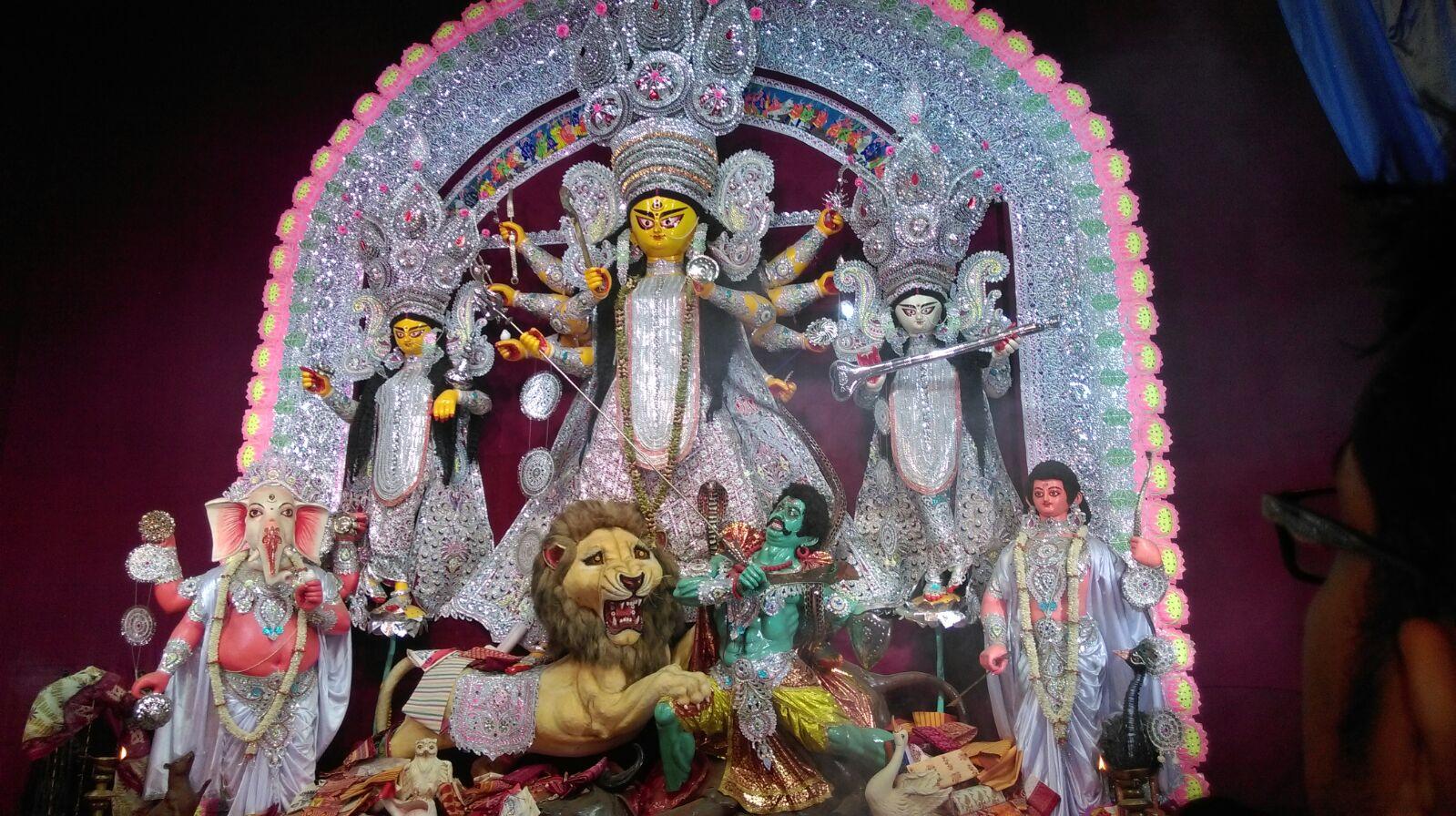 Durga Idol of Bagbazar Sarbojanin-- first public puja of Kolkata, that would celebrate its 100 th year in 2018