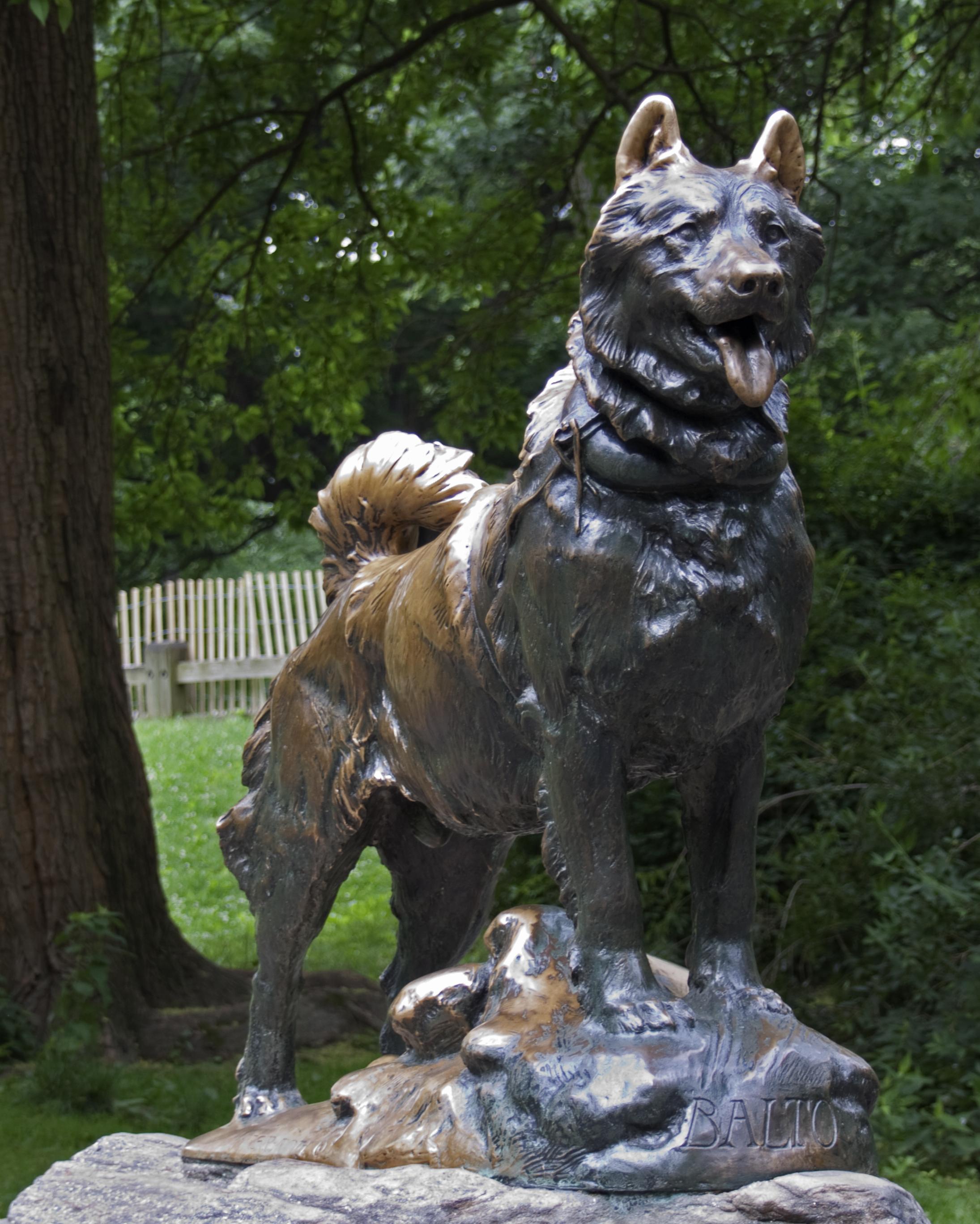 chien - Balto - statue de Central Park
