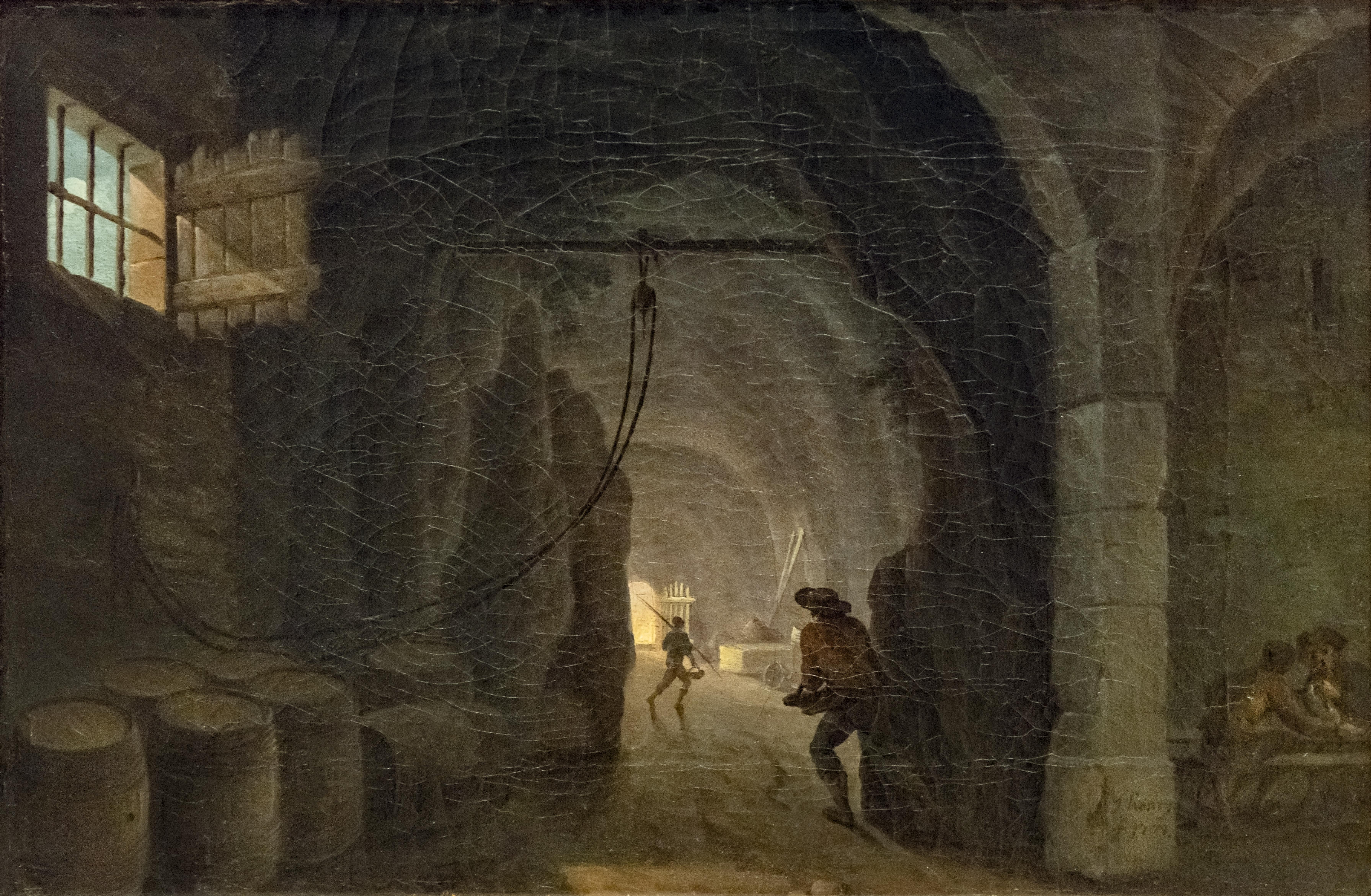 Beaux-Arts de Carcassonne - Intérieur d'une grande cave 1771 - Henry d'Arles Joconde04400000526.jpg