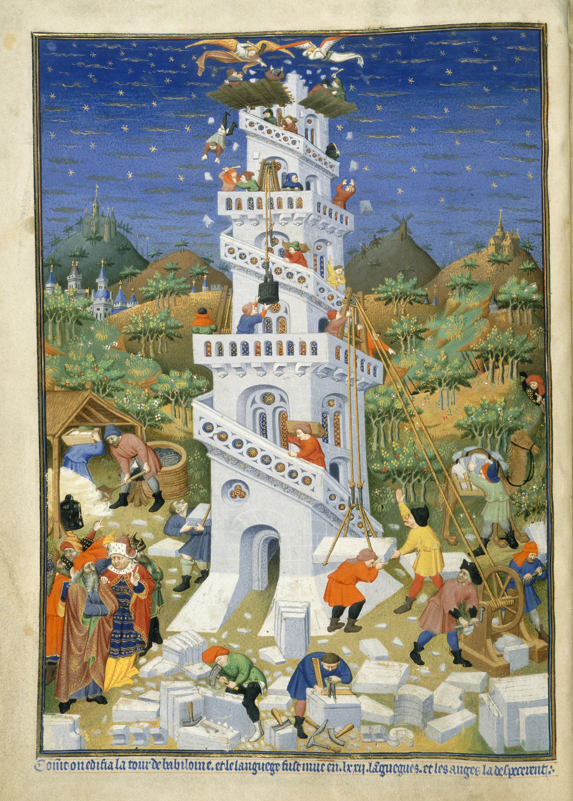 File:Building of the Tower of Babel - Bedford Hours (1414-1423)