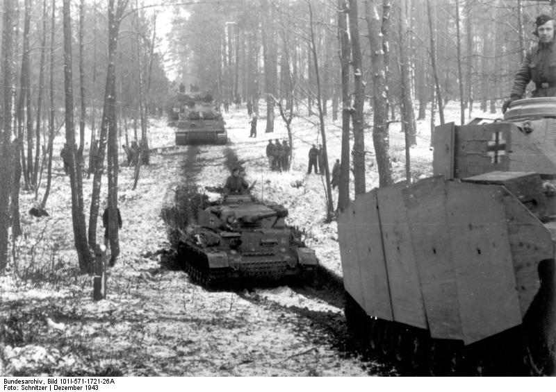 "Panzer IVs and Tigers of SS-Division ""Das Reich"""