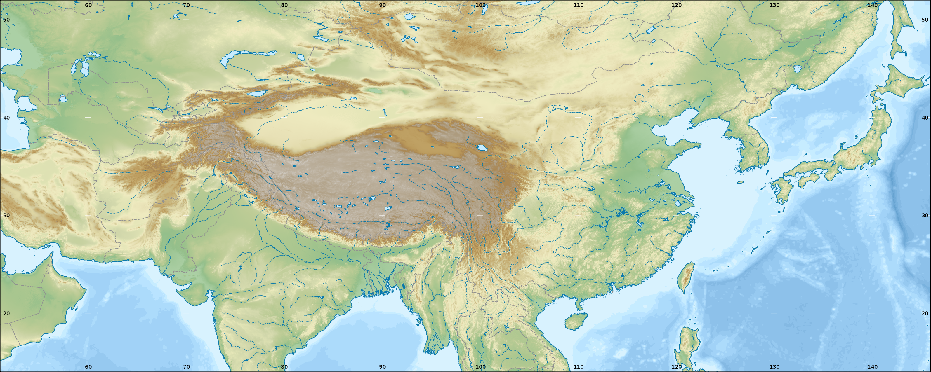 Wikipediagraphics labmap workshopchinagithub wikipedia mediachinese history large 51e146w 14n52n color topography bordersg gumiabroncs Gallery