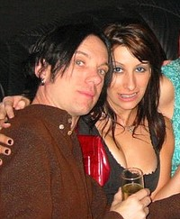 Carrie Borzillo with her then-husband Chris Vrenna in 2002.