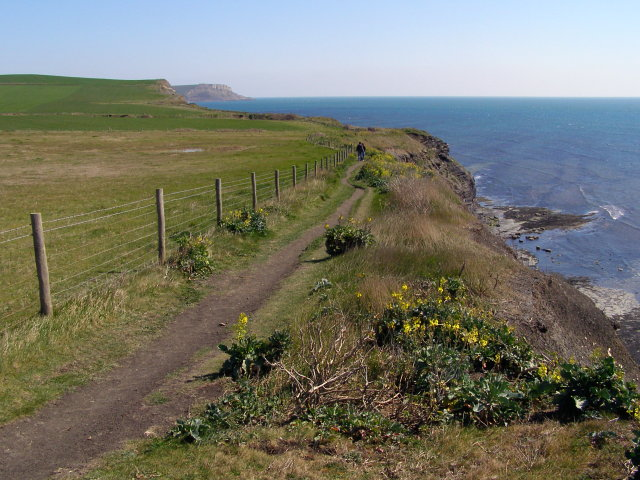 Coast path approaching Blackstone Point from the west - geograph.org.uk - 768943