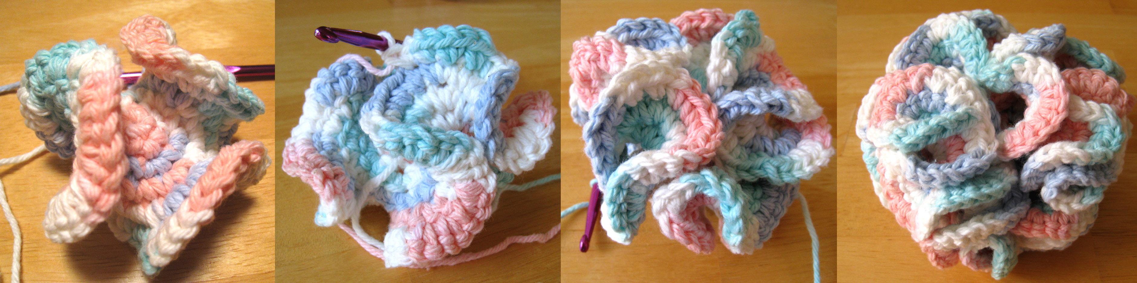 Free Crochet Pattern For Bath Pouf : File:Crochet bath puff 6.jpg - Wikimedia Commons
