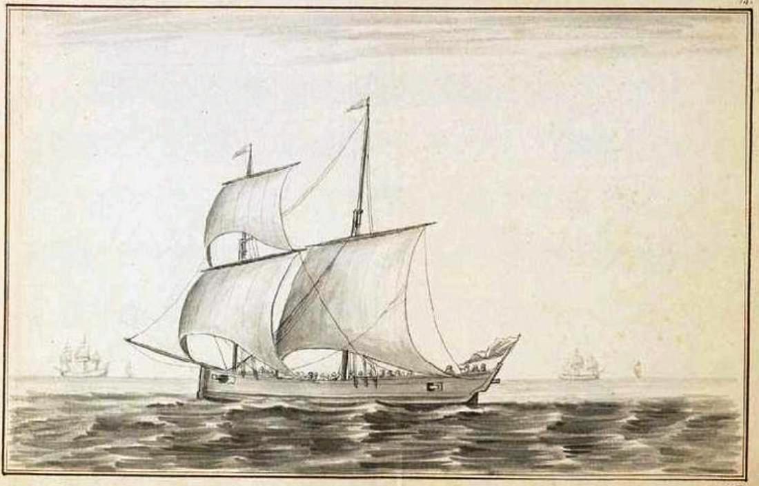 François Talbot Double_chaloupe_corsaire_l%27Epervier_en_1746