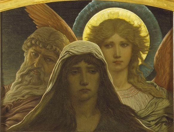 Elihu Vedder The Sorrowing Soul between Doubt and Faith