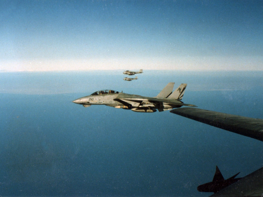 File:F-14A Tomcat of VF-111 over the Persian Gulf c1990.jpg ...