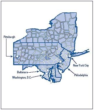 MidAtlantic States Wikiwand - Midwest us region map