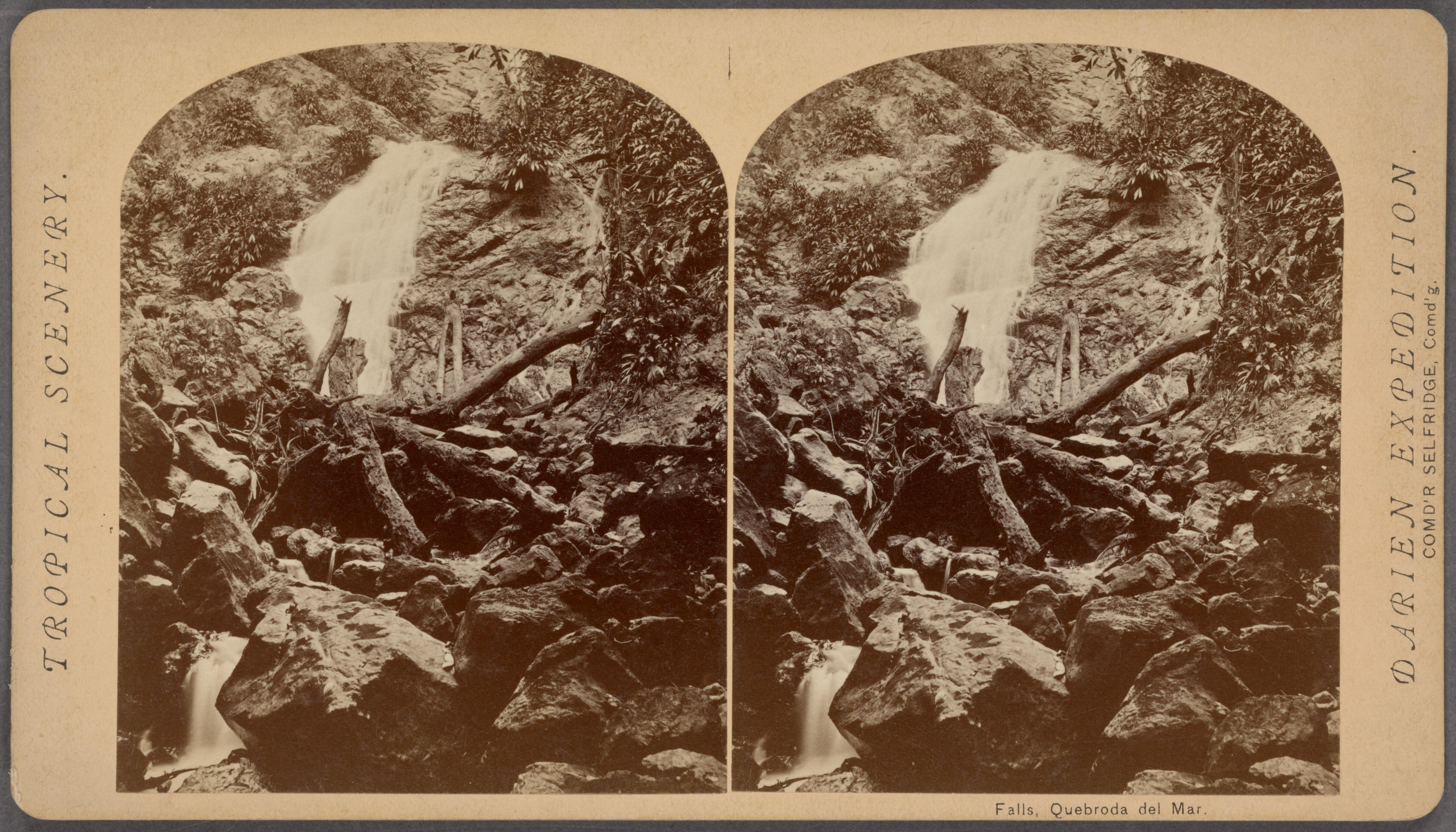 File:Falls, Quebroda del Mar, by O'Sullivan, Timothy H