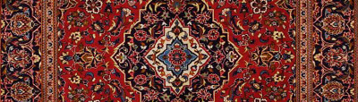 Persian rug with rectangular symmetry