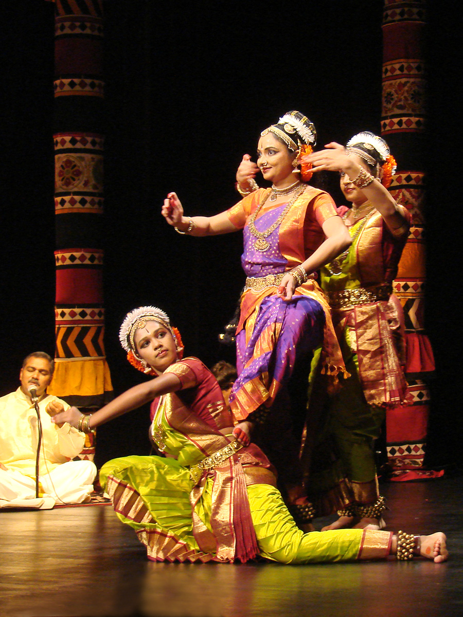A Kuchipudi dance performance is accompanied by Carnatic vocalisations.