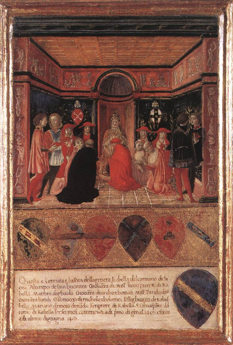 Francesco di Giorgio, Pope Pius II Names Cardinal His Nephew.jpg
