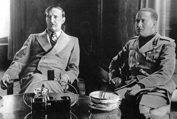 Zog I of Albania with Italian Foreign Minister, Galeazzo Ciano in 1937.