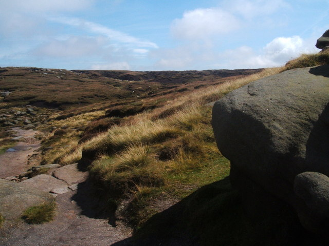 Gritstone,hags and groughs - geograph.org.uk - 1442130