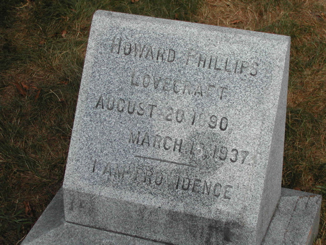 Gravestone of H. P. Lovecraft
