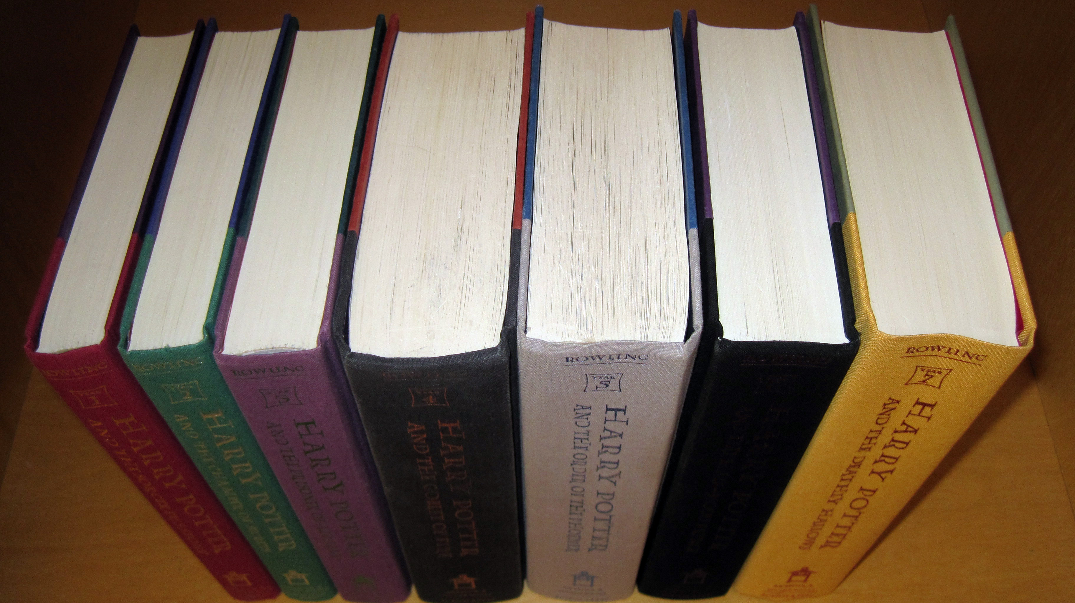 FileHarry Potter Books 1 7 Without Dust Jackets 1st American Eds