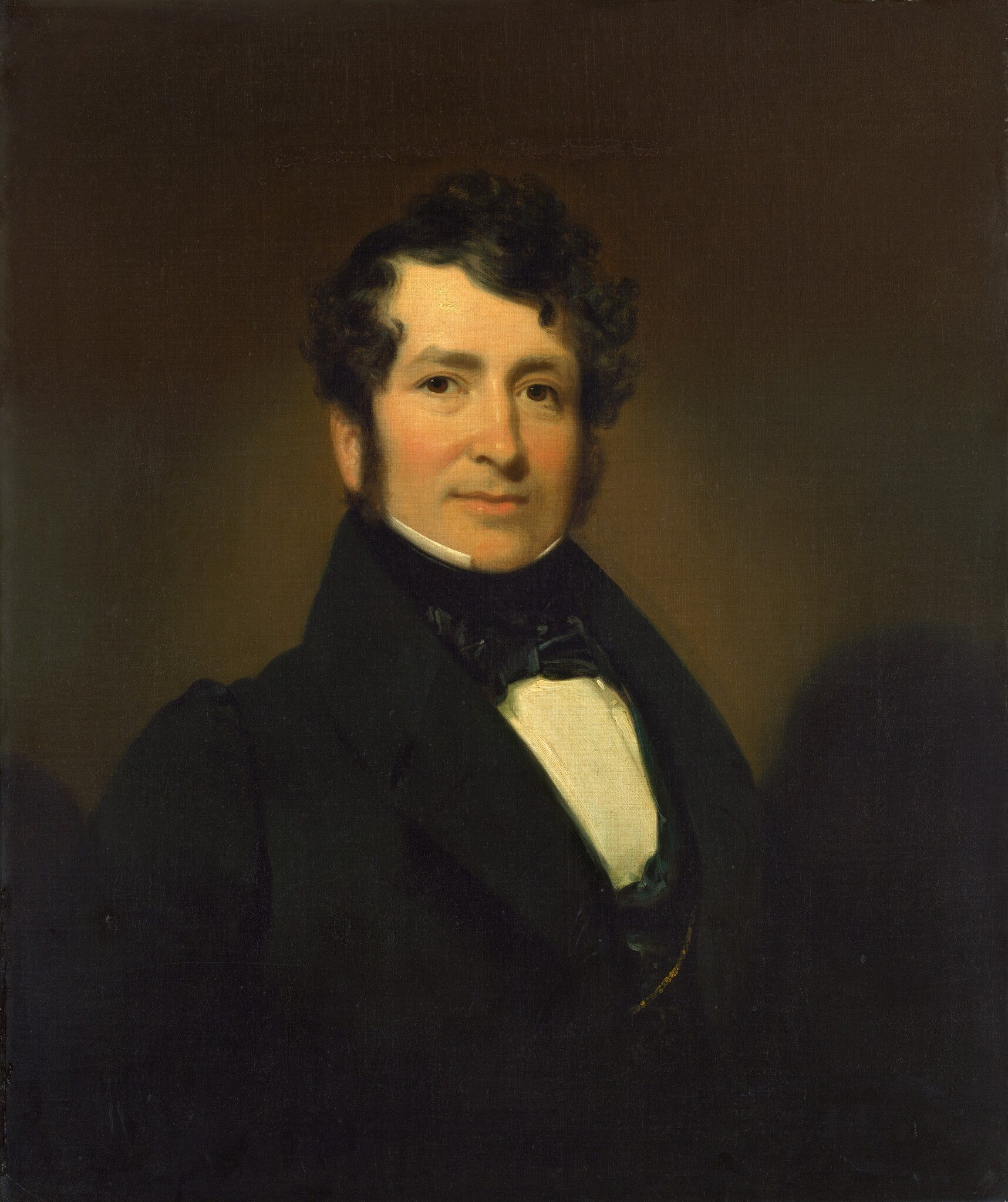 George Pope Morris, 1836, oil on canvas by [[Henry Inman (painter)|Henry Inman]]