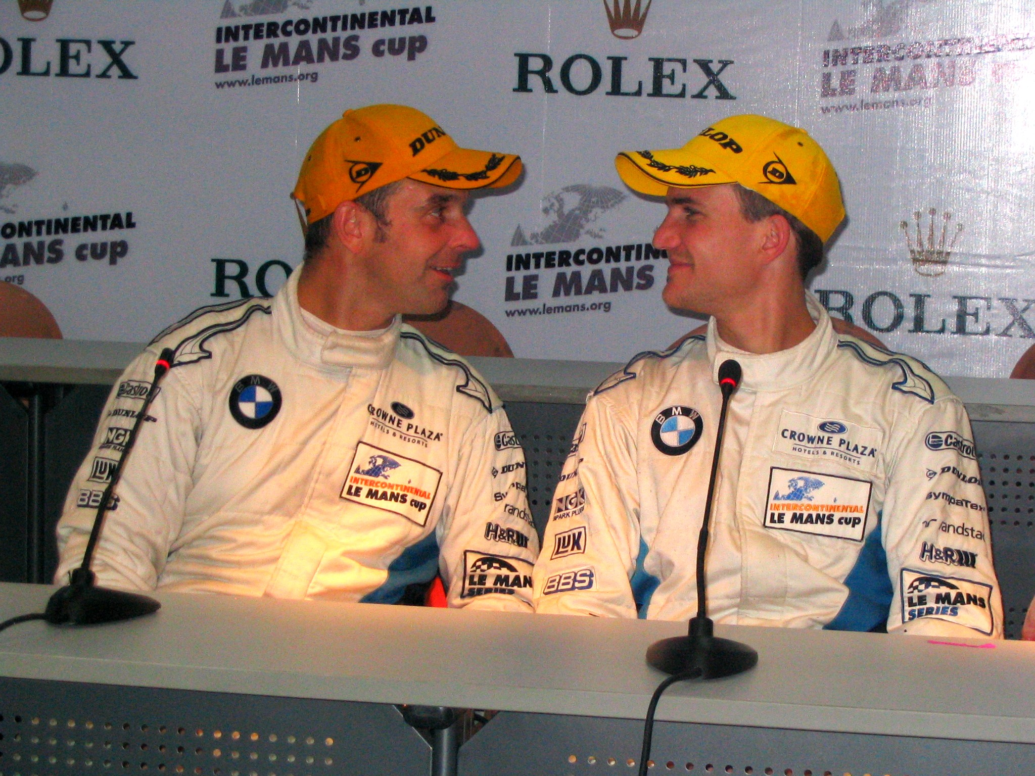 Dirk Werner and [[Jörg Müller]] at the 1000 km of Zhuhai of the [[2010 Intercontinental Le Mans Cup]]