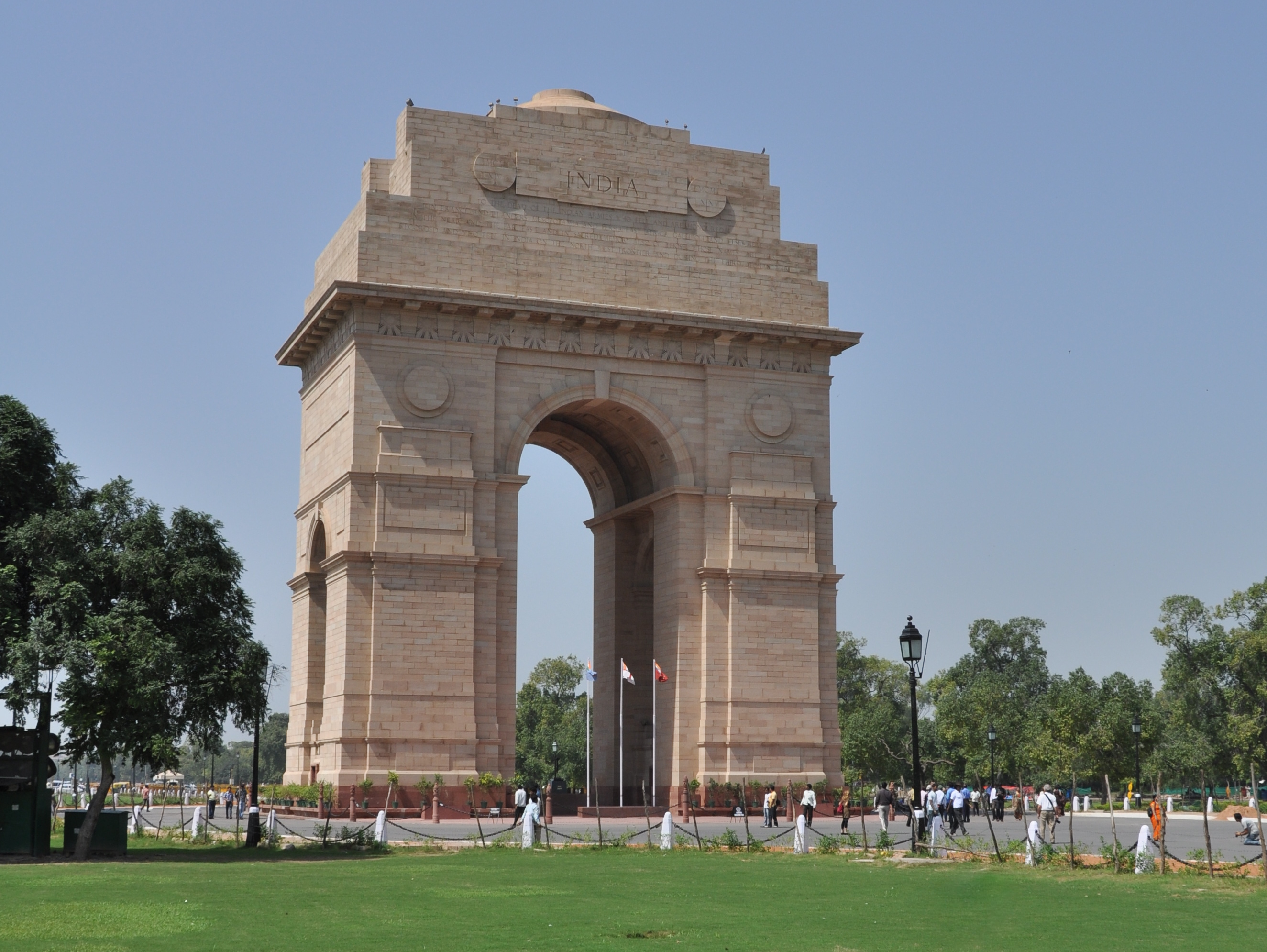 India Gate, official name Delhi Memorial, originally called All-India War Memorial, monumental sandstone arch in New Delhi, dedicated to the troops of British India who died in wars fought between and India Gate, which is located at the eastern end of the Rajpath (formerly called the Kingsway), is about feet (42 metres) in height.