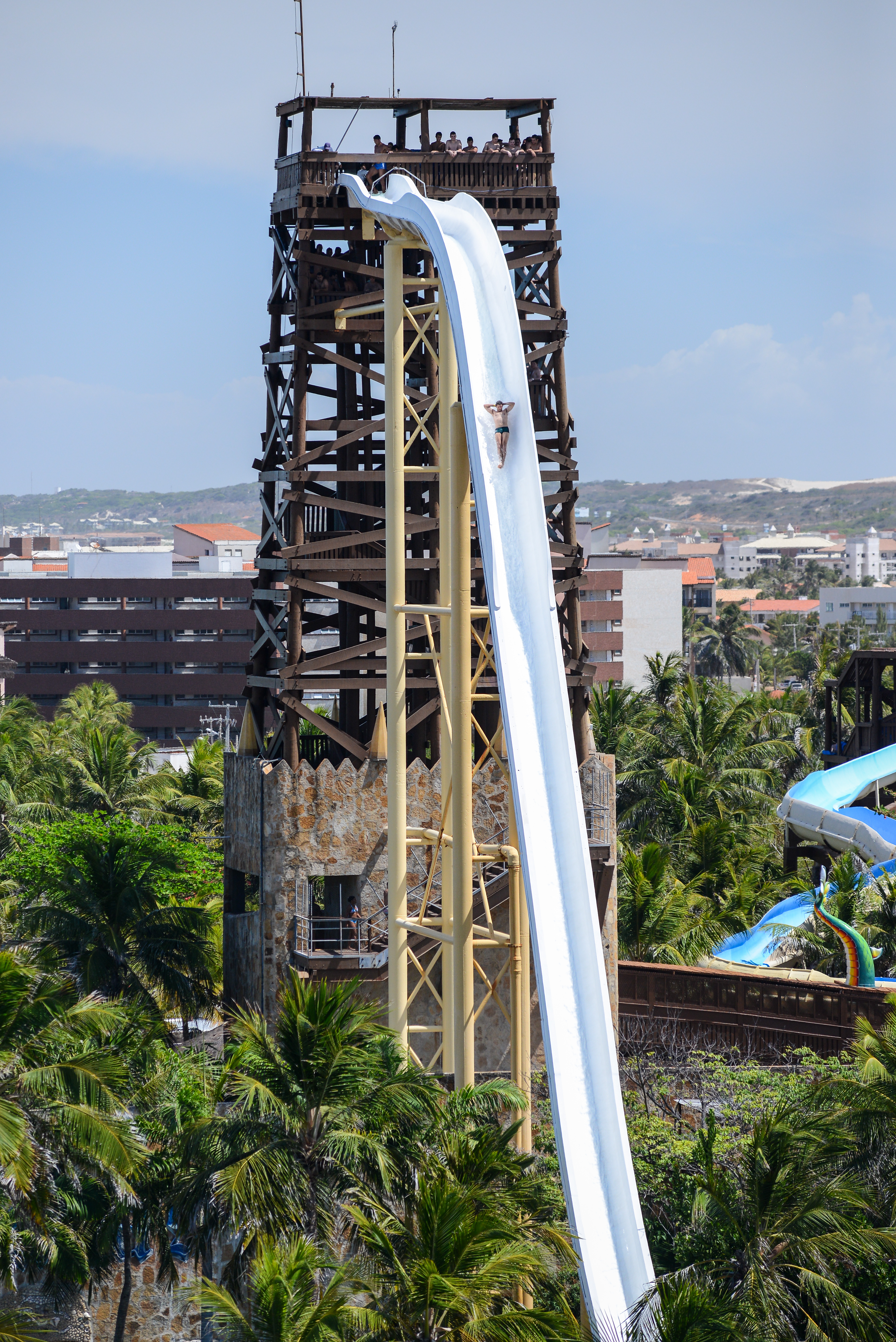 Beach Water Park Slides