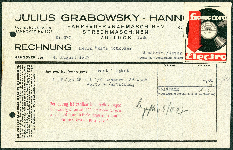 File:Julius Grabowsky Hannover Fahrräder Nähmaschinen ...