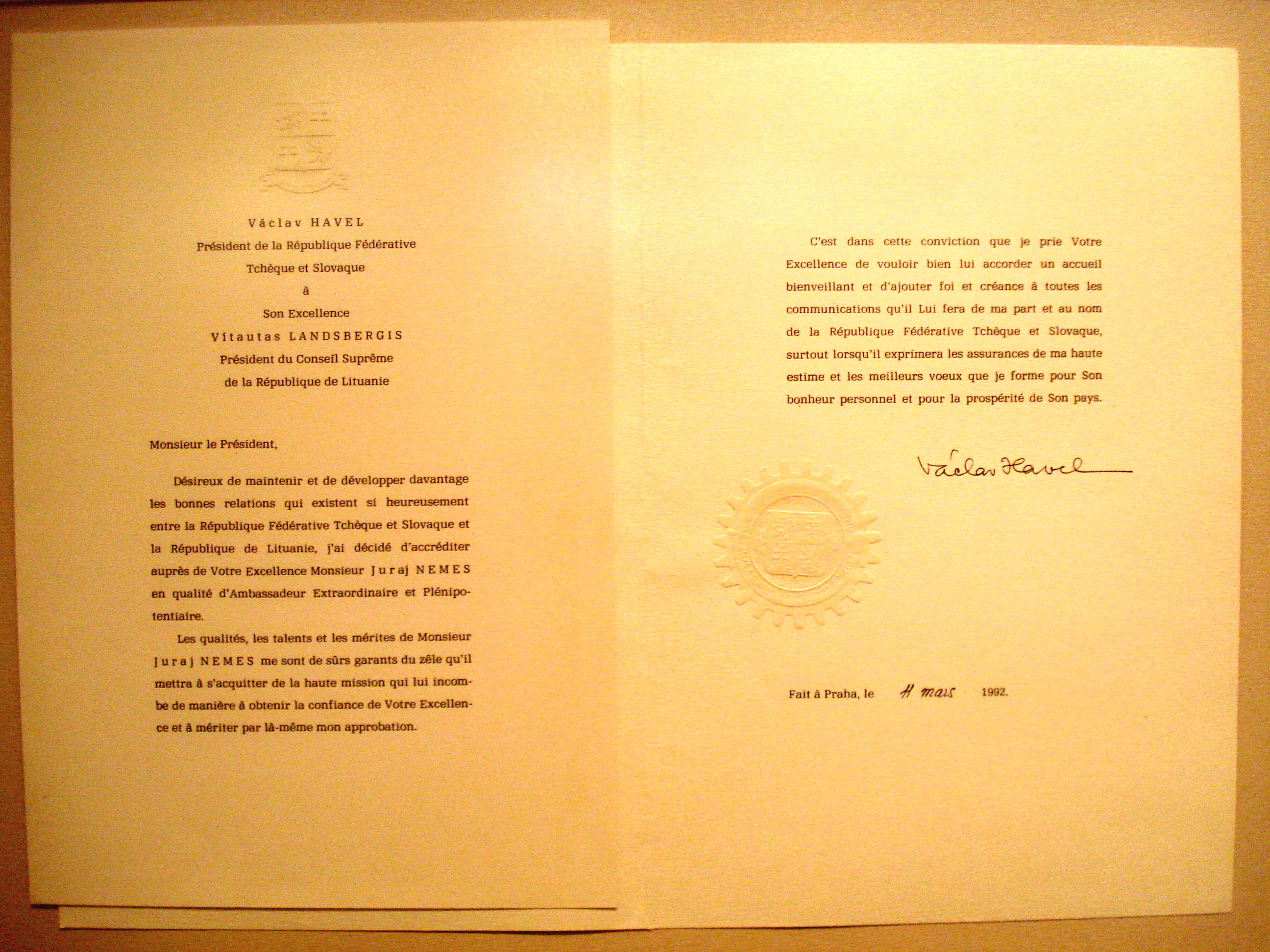 Letter Of Credence Wikiwand