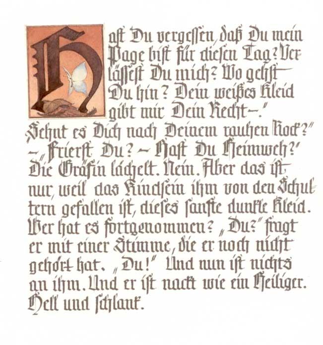 Dateikalligrafische Nachschrift Zu Rilkes Cornetjpg