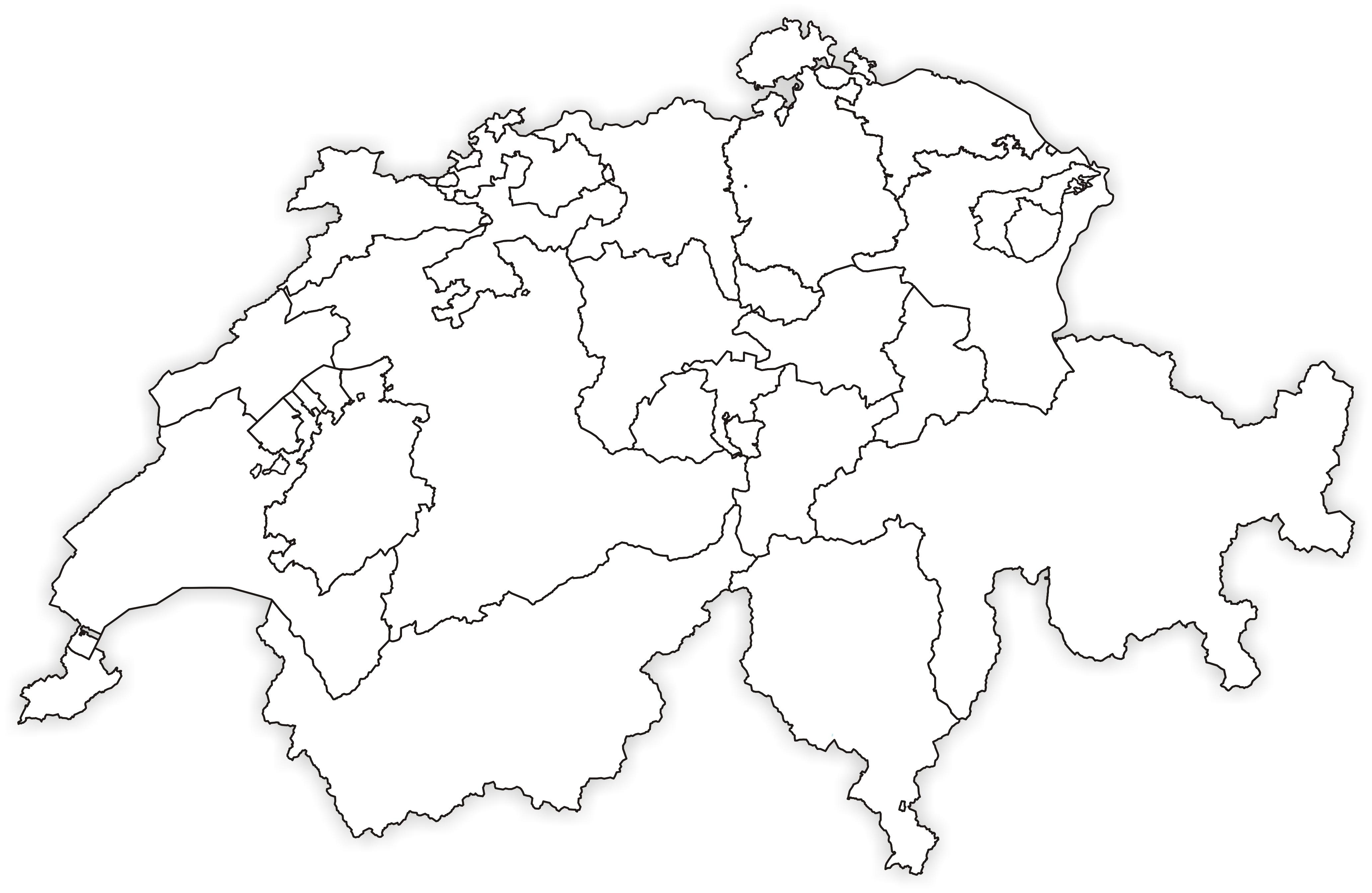 File:Karte Kantone der Schweiz 1996 ohne Seen.png - Wikimedia Commons SCHWEIZER KARTE