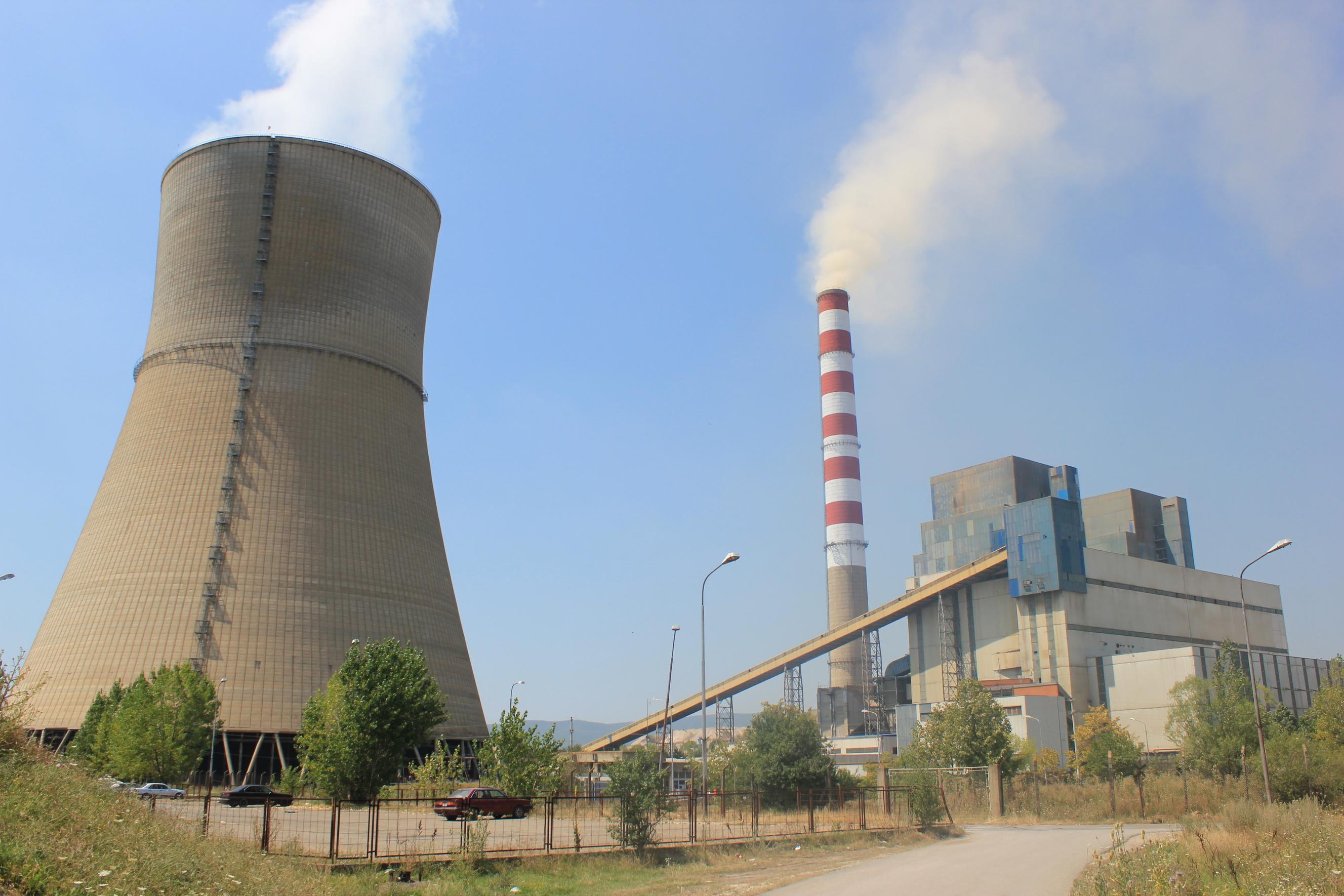 Braunkohlekraftwerk Kosova B bei Priština