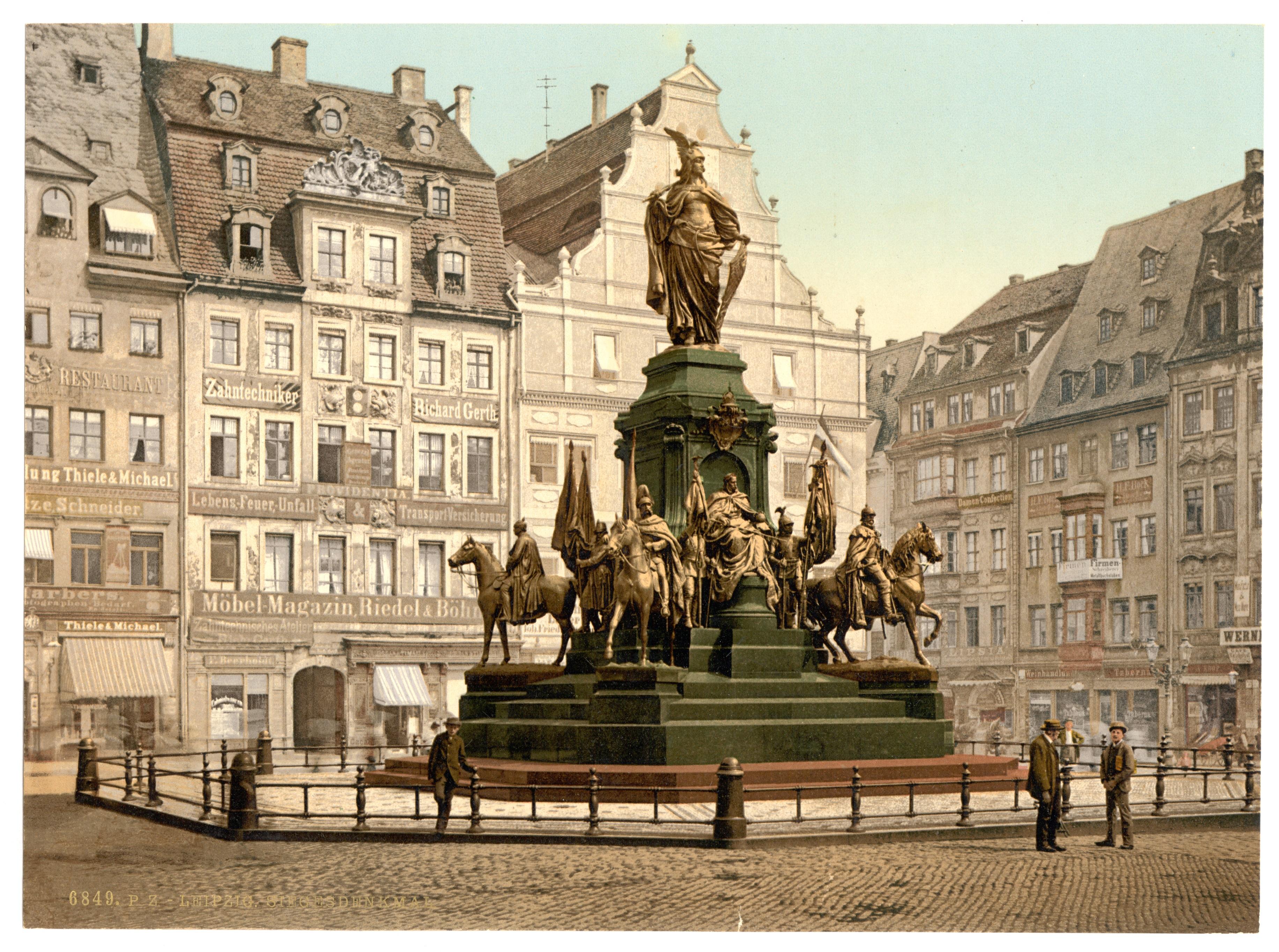 Möbelladen Leipzig file leipzig siegesdenkmal 1900 jpg wikimedia commons