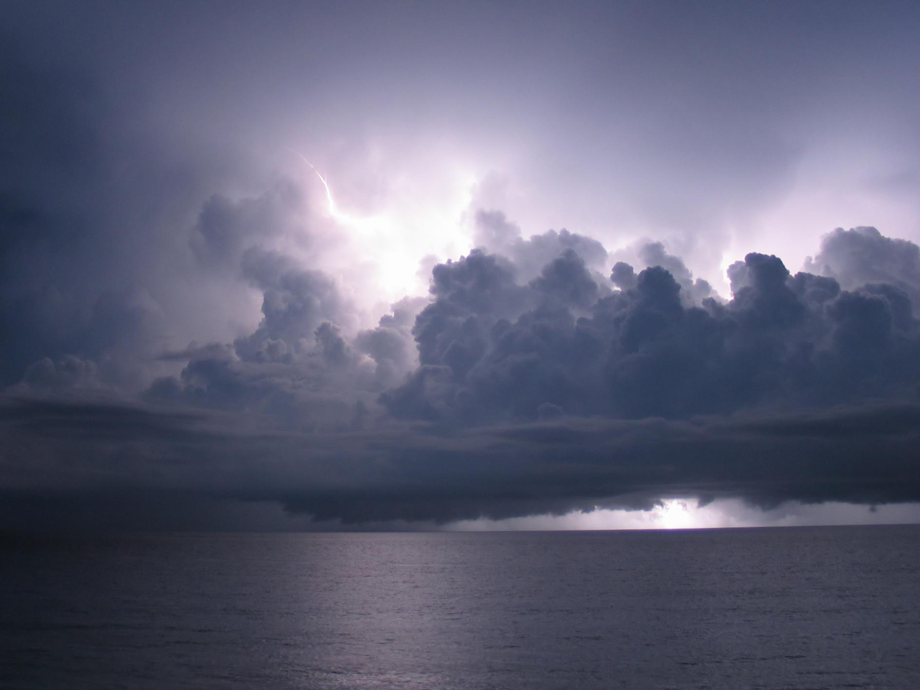 Darl Clouds Overhead