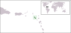 Location of Saint Kitts jeung Névis