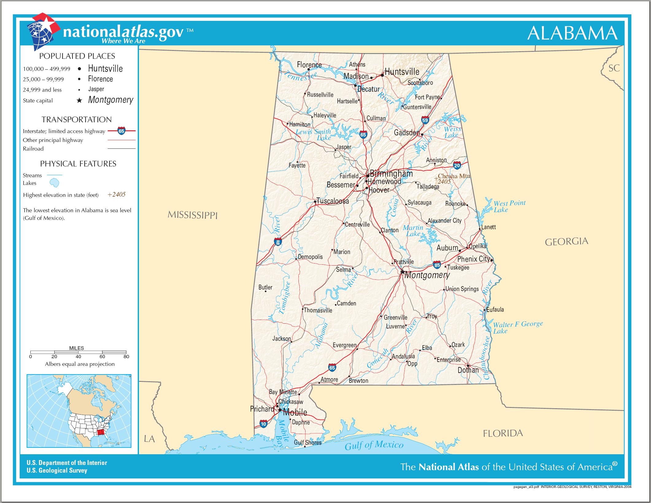 alabama karte Liste der Städte in Alabama – Wikipedia alabama karte