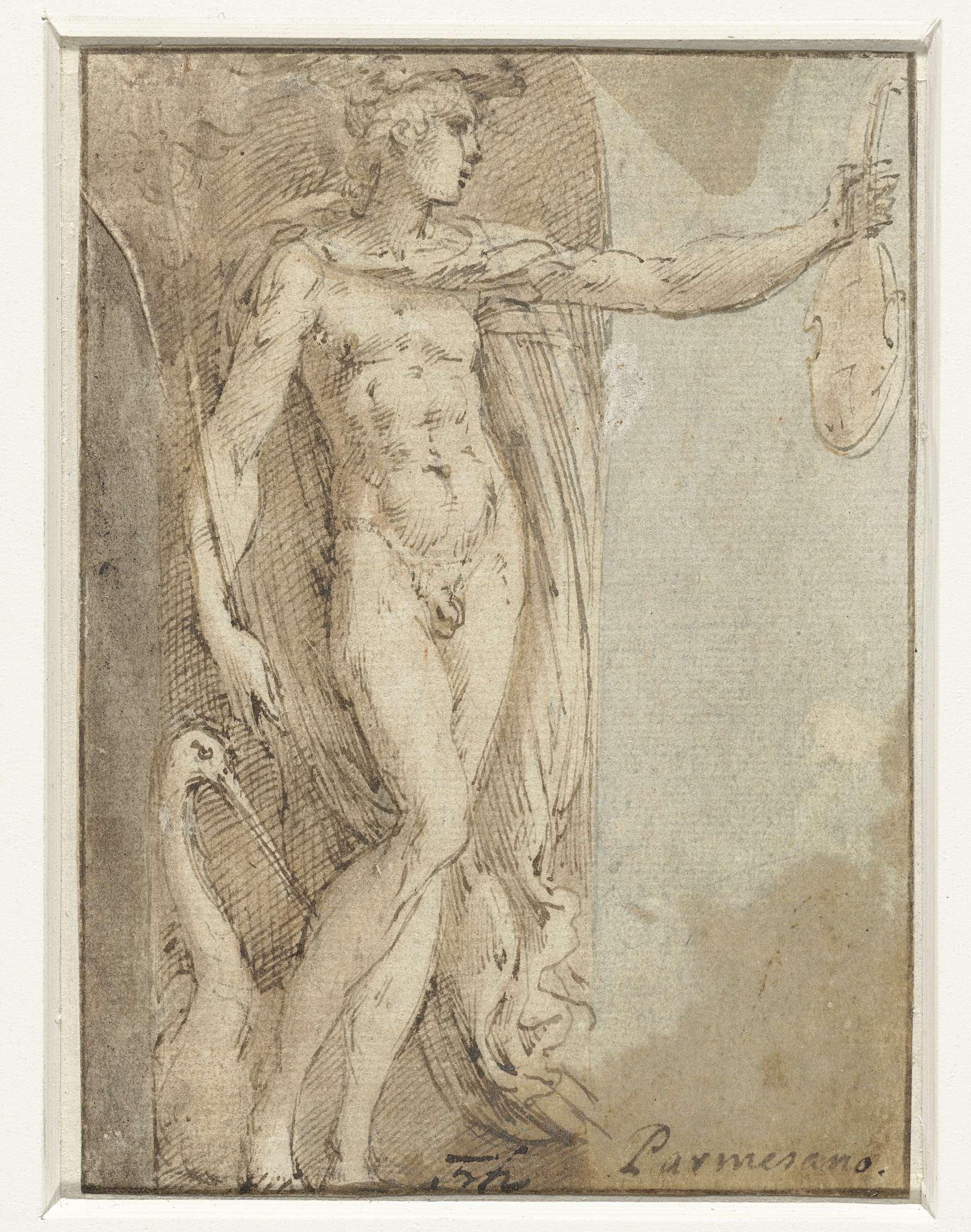 File:Mercurius staand in een nis met een viool en een ibis.jpeg ...