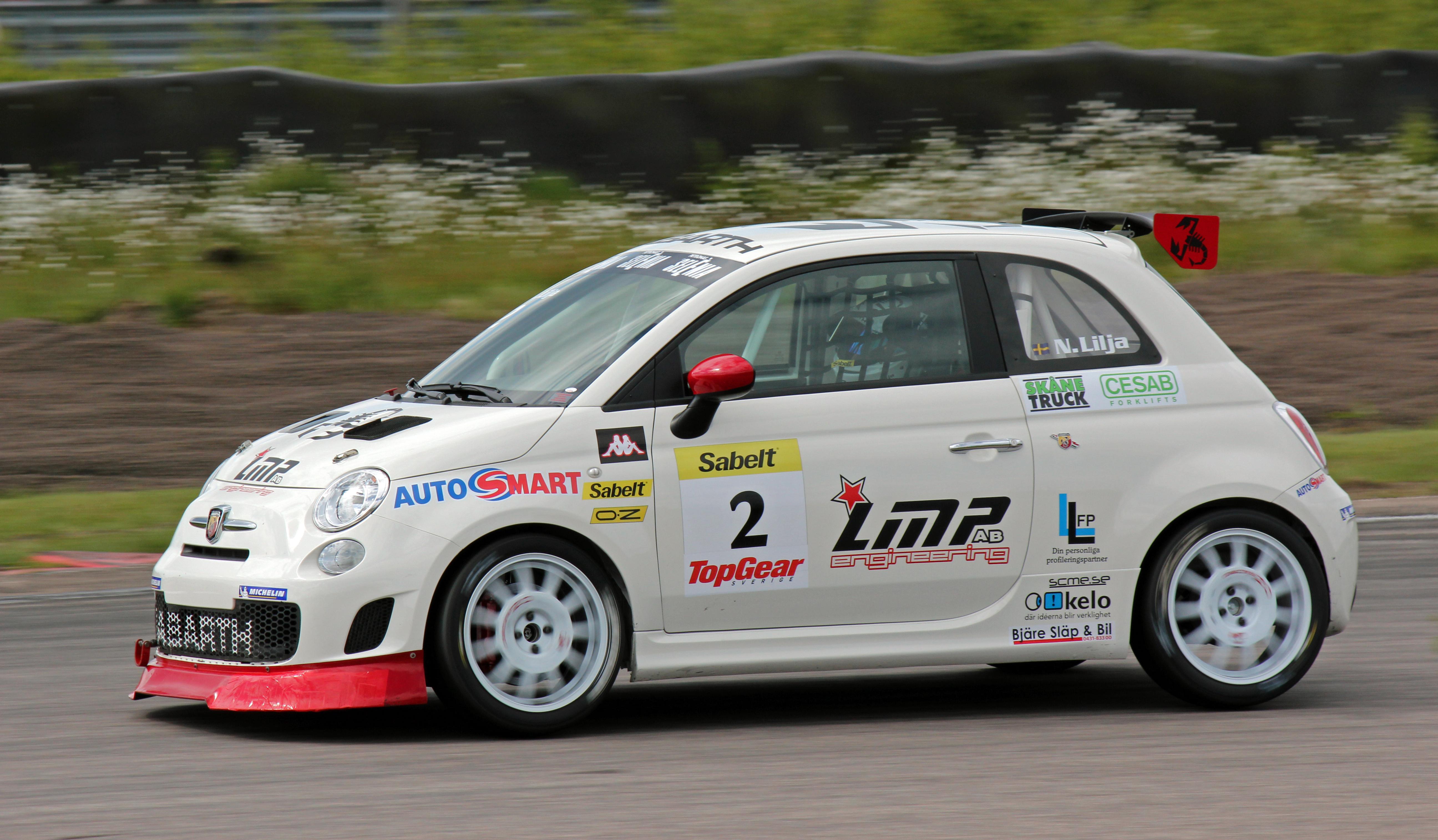 Description Niklas Lilja Trofeo Abarth 500 Sweden Anderstorp 2012.jpg
