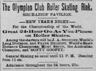 Newspaper advertisement: Skating contest with ...