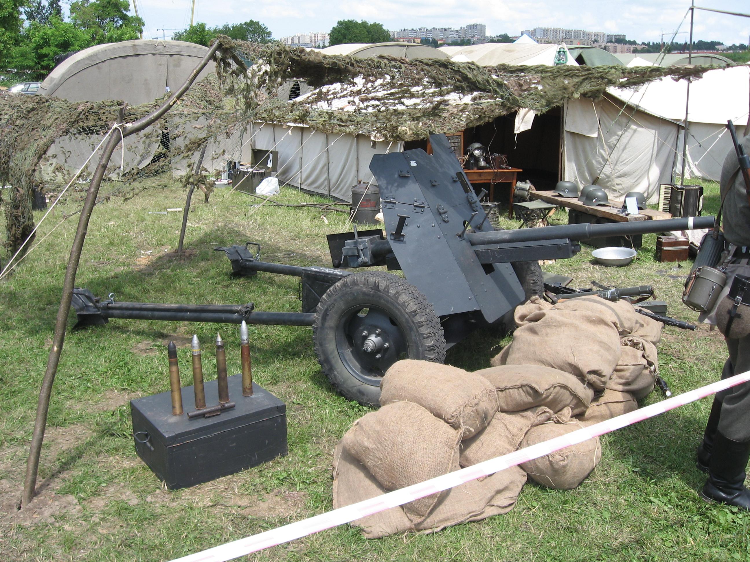 German 50 Mm Anti Tank Gun: File:Panzerabwehrkanone 36 Anti-tank Gun During The VII