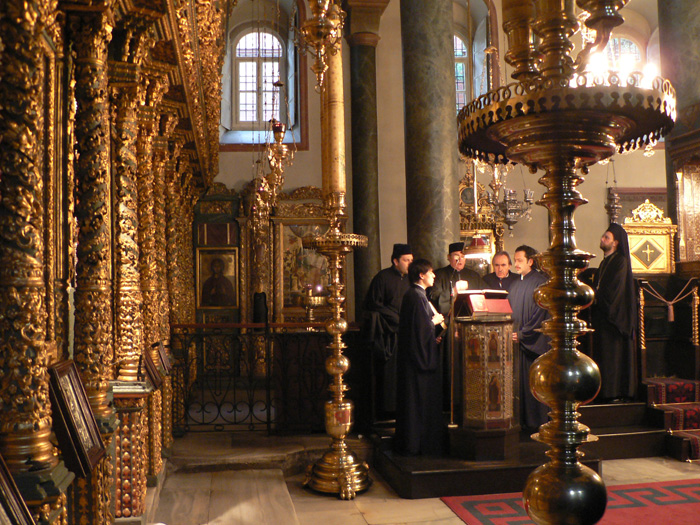 Inside the Patriarchal Basilica of St George, Istanbul dans immagini sacre Patriarchate_Constantinopolis